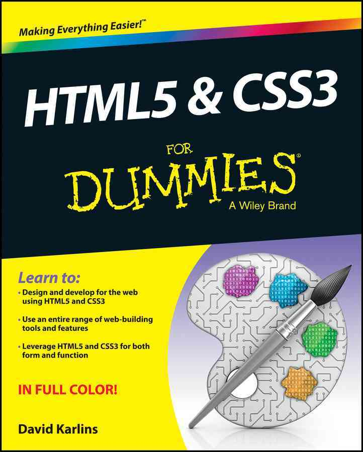 HTML5 and CSS3 for Dummies By Jenkins, Sue
